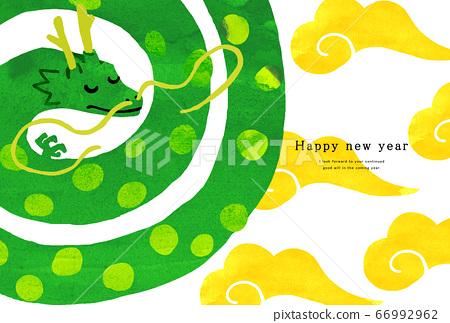 2024新年賀卡模板新年快樂新年賀卡龍年達達人 66992962
