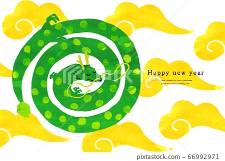 2024新年賀卡模板新年快樂新年賀卡龍年達達人 66992971