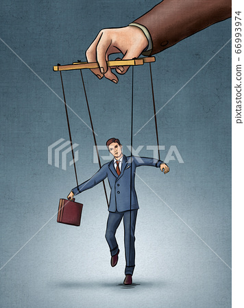 Businessman on strings 66993974