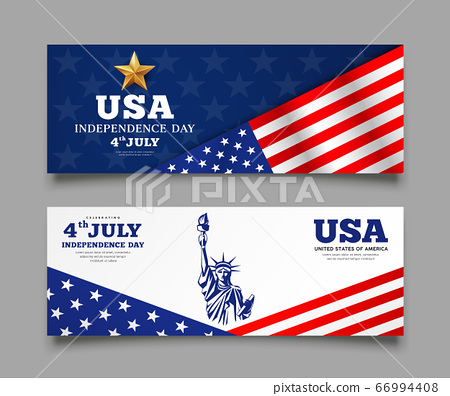 Banners Celebration flag of america independence day 66994408