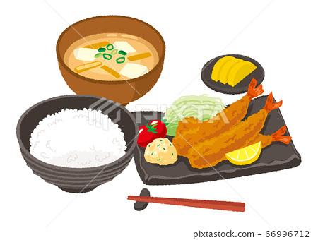 炸蝦套餐的插圖 66996712