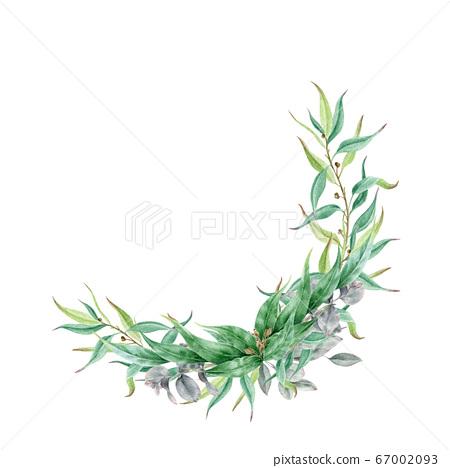 Eucalyptus leaf and branches floral arrangement. 67002093