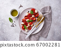 Caprese salad with tomatoes and mozzarella 67002281