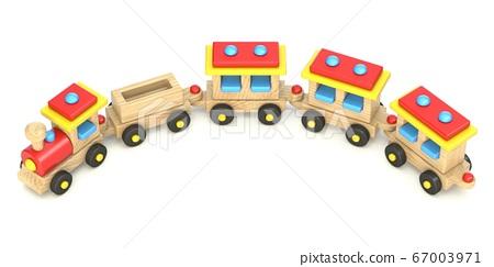 Wooden train 3D 67003971