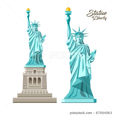 The Statue of Liberty vector, Liberty Enlightening the World, in the United States 67004863