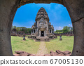 Front view of Prasat Hin Rock castle in Phimai 67005130
