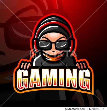 Gamer boy mascot esport logo design 67008993