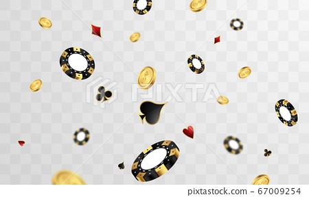 Casino Luxury vip invitation with confetti 67009254