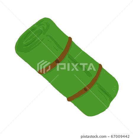 矢量圖的鬆散的床墊可以用於登山,戶外活動,露營,露營等 67009442