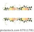 Retro rose frame 67011781