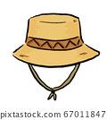 """矢量圖的一個鬆散的""""帽子""""可以用於登山,戶外,露營,露營等 67011847"""