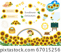 Cute illustration material of sunflower 67015256