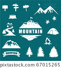 Fashionable mountain silhouette material 67015265