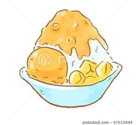 """深受年輕人歡迎!台灣和韓國最熱門的美食家""""芒果刨冰""""插圖 67015684"""