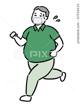 肥胖肥胖叔叔(工薪族)跑步口罩熱 67016410