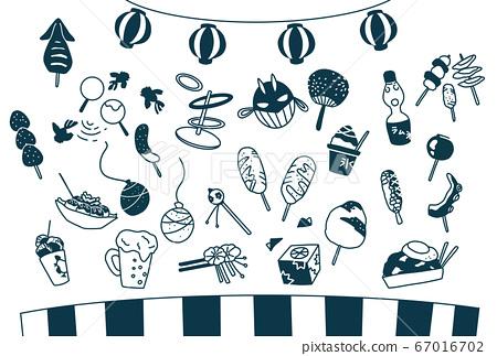 節日節日食品攤簡單食品圖 67016702