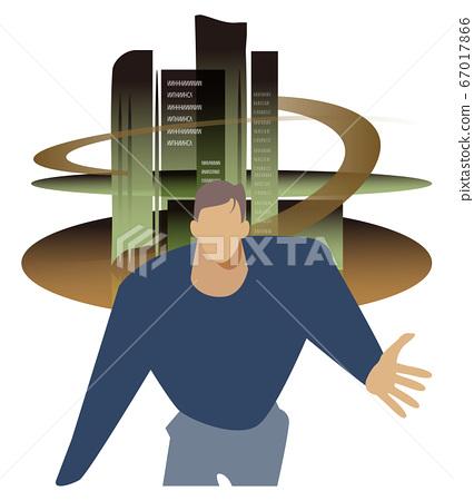 辦公室計劃-領導公司-男性企業家 67017866