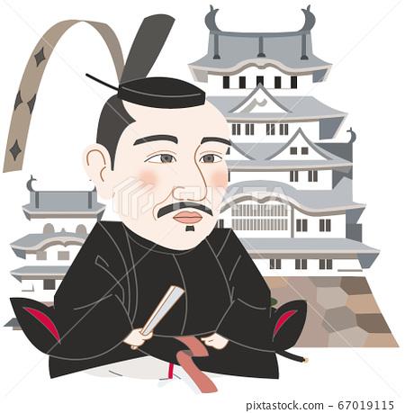Himeji Castle and Terumasa Ikeda 67019115