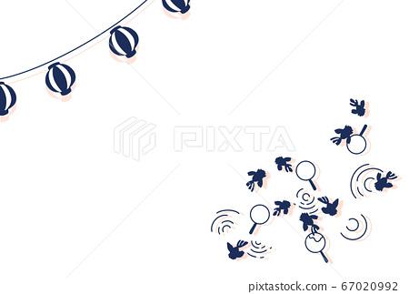 여름 축제 축제 금붕어 금붕어 일러스트 초롱 단순 67020992