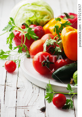 Concept of healthy and vegan eating 67021637