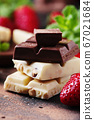 Chocolate with mint and strawberry 67021684