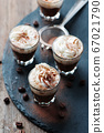Delicious coffee with crean and cocoa 67021790