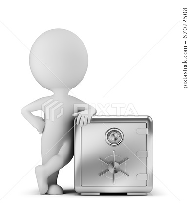 3d small people - next to the safe 67022508
