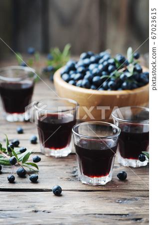 Traditional sardinian liqueur with mirto 67023615