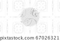 Beautiful drawn shapes illustration. Designer 67026321