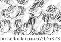 Beautiful drawn shapes illustration. Designer 67026323