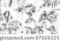 Beautiful drawn shapes illustration. Designer 67026325