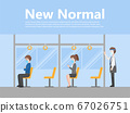 New normal life People in bus business casual 67026751