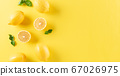 Summer composition made from oranges, lemon and 67026975