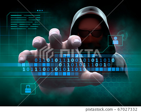 Hacker stealing personal information 67027332