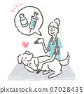 插圖敦促獸醫在獸醫診所使用狂犬病疫苗針對寵物 67028435
