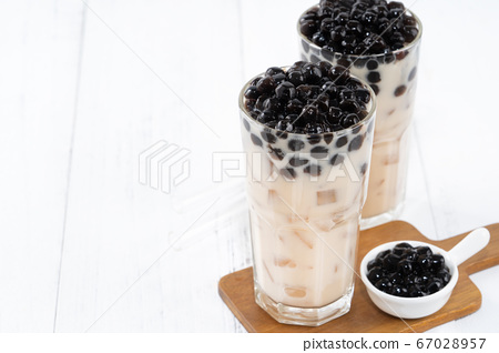 台灣小茶波霸奶茶木薯粉珍珠粉珍珠奶茶 67028957