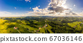 South styria vineyards aerial panorama landscape. 67036146