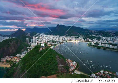 Amazing view of Rio de Janeiro from Sugarloaf mountain 67036594