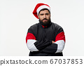 Cute guy in a festive hat model 67037853