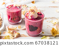 Healthy Beetroot Smoothie for Breakfast 67038121