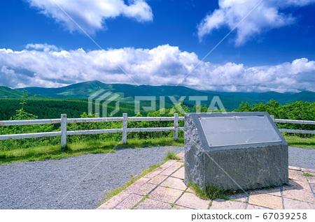 나가노 현 초여름의 白樺高原 석양의 언덕 2 67039258