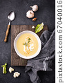 Healthy vegan cauliflower cream soup 67040016