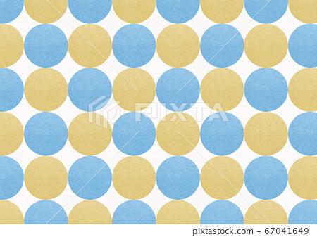 일본식 배경 소재 - 일본식 디자인 - 폴카 - 노란색과 파란색 원형의 연속 67041649