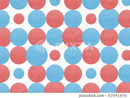 일본식 배경 소재 - 일본식 디자인 - 폴카 - 빨간색과 파란색 불규칙 원형의 연속 67041650