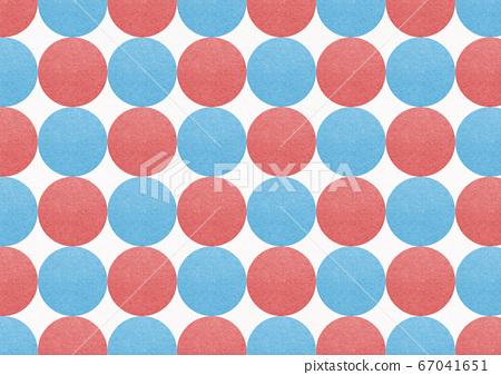 일본식 배경 소재 - 일본식 디자인 - 폴카 - 빨간색과 파란색 원형의 연속 67041651