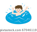 Illustration of a boy drowning in the sea 67046119