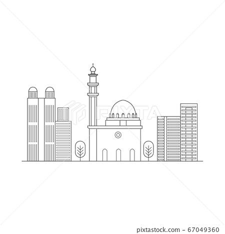Outline of a city skyline 67049360