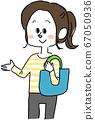 여성 에코 가방 쇼핑 가방 67050936