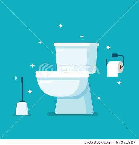 Clean Toilet in flat style 67051887