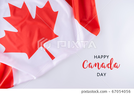 Canada flag background with text. Happy Canada Day. Independence day. July 1 67054056